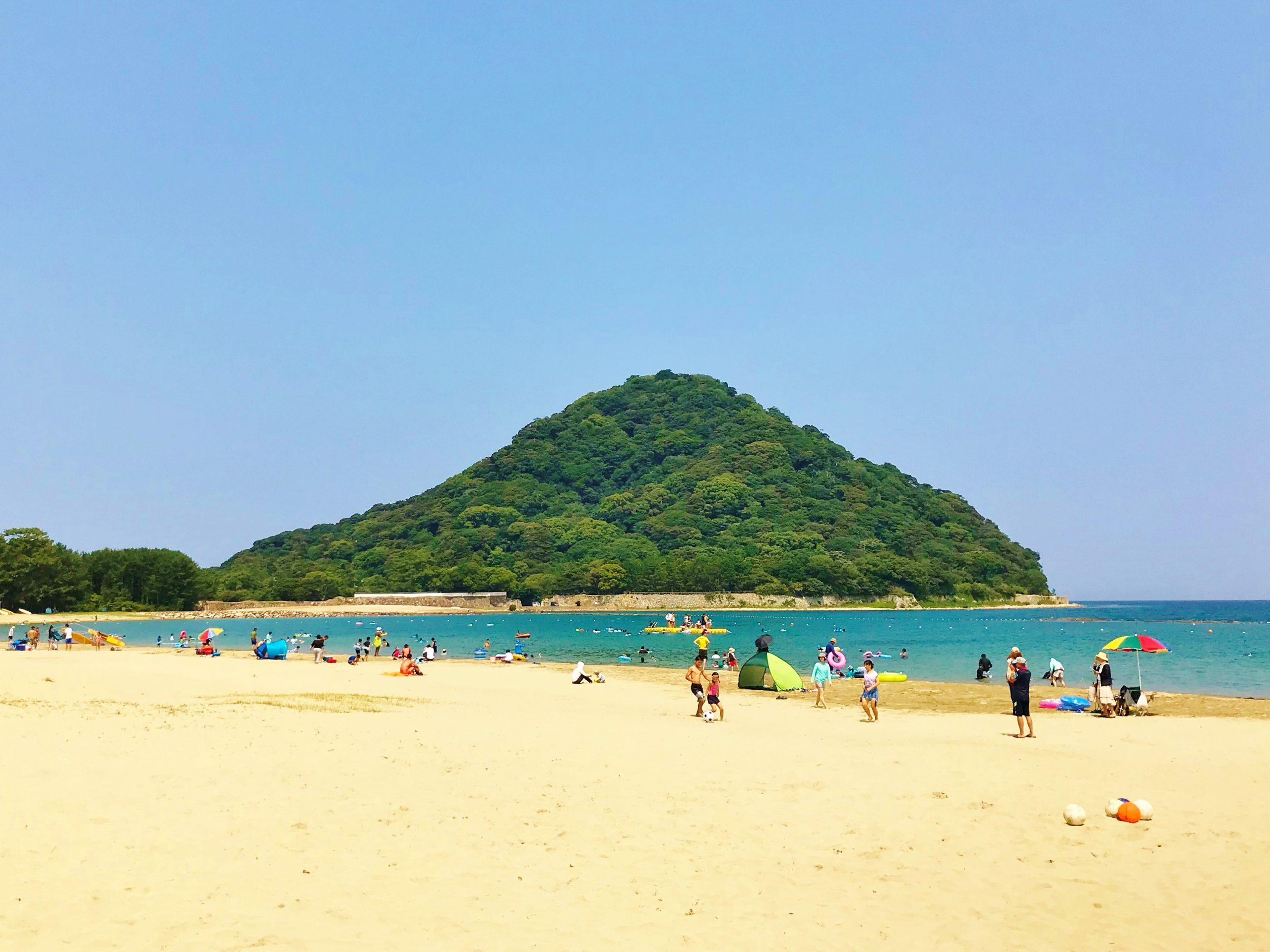 画像:菊ヶ浜海水浴場 海開き