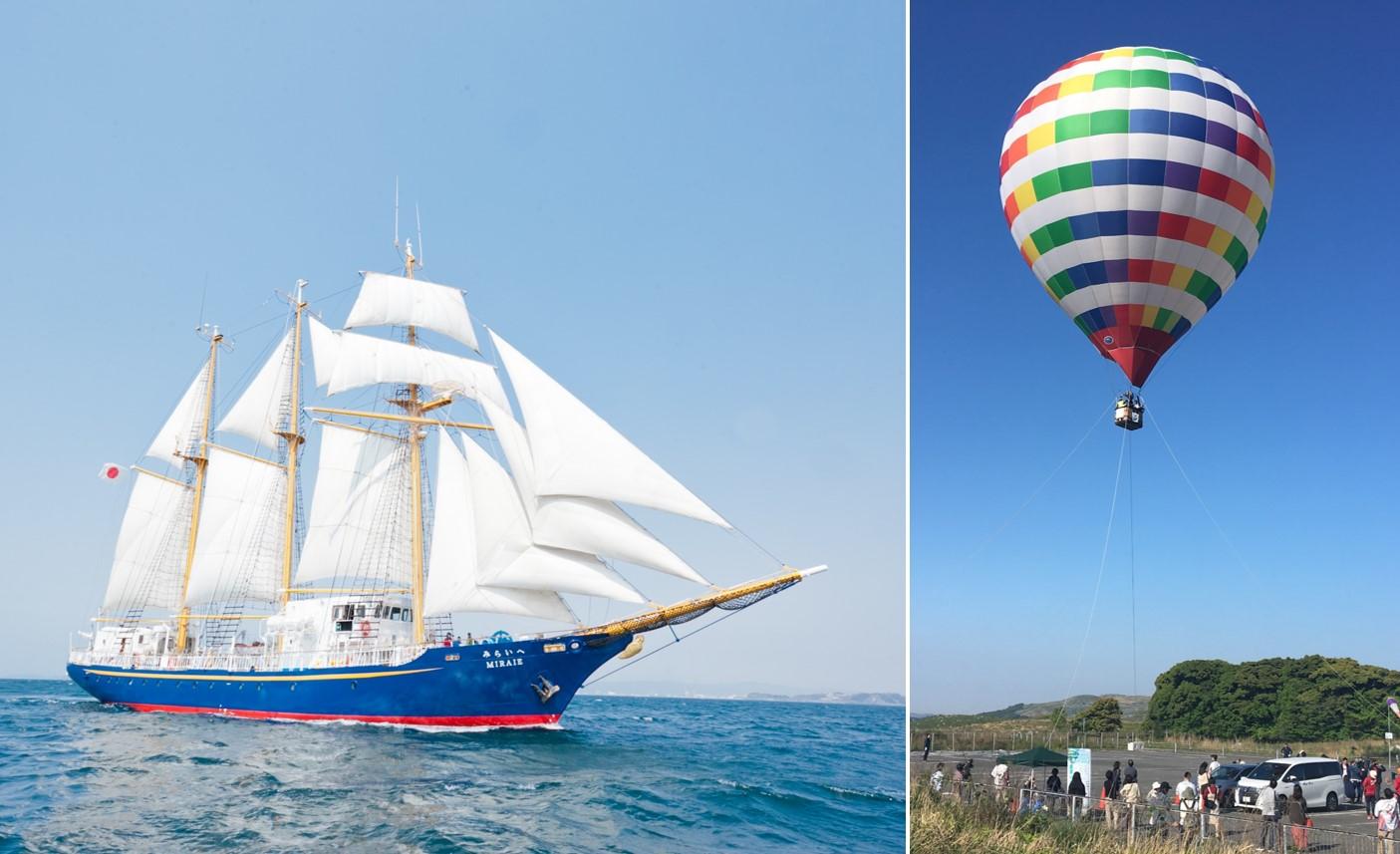 画像:【世界遺産登録5周年記念】帆船を体験してみよう!&熱気球で空から城下町を楽しもう!